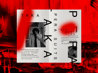Takapera Suits layout contemporary illustration graphic design