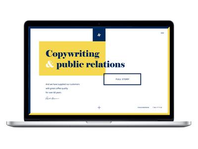 Copywriter personal website  webdesign ux ui homepage website