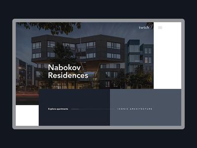Nabokov Residences website portfolio architects desktop layout ui website