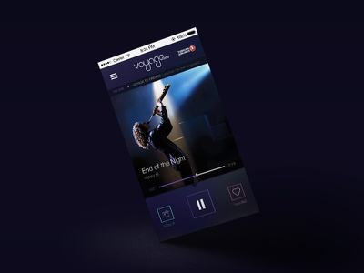 Radio Voyage Mobil App UI/UX ui mobile muratyalcin radio ios app design ux murat application user interface