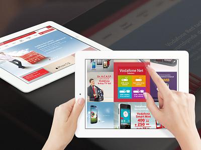 Vodafone Responsive Design murat muratyalcin menu flat mobile userinterface uiux design turkish ipad responsive web