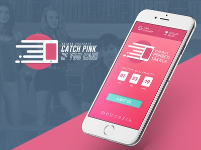 Mobil Site / Catch Pink If You Can responsive menu mobile site ios design ux ui mobile app