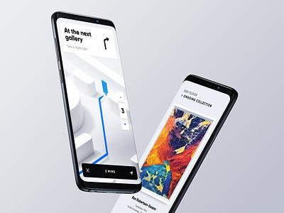 Museum App for Fantasy floor device mockup device panel card navigation map mobile app