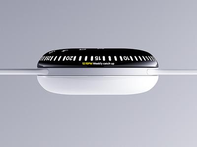 Orbit watch side view widget watch ui physical interface digital device blender 3d