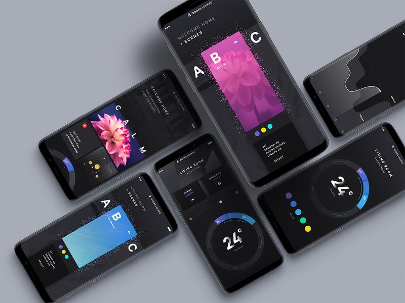 Smart Home Compilation design home smart app ui mobile