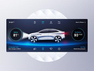 Car Dashboard interface car automotive 3d