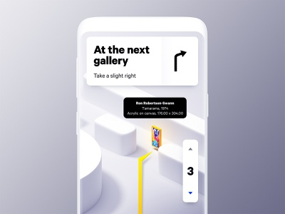 Gallery Map navigation maps blender typography design 3d app ui mobile
