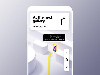 Gallery Map navigation maps blender typography design 3d app ui mobile