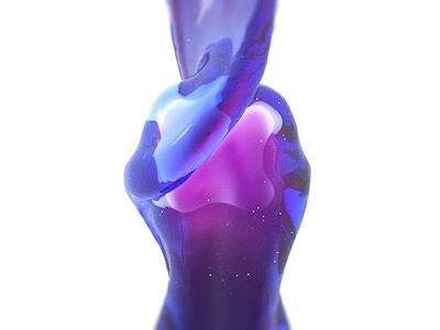 Logo Fluid Simulation viscosity gel magic simulation blender fantasy logo fluid animation 3d