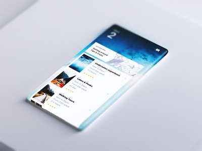 Infinite Screen – Travel App glass 3d app mobile ui