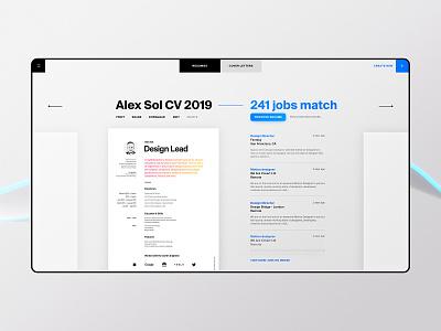 Resume Builder App cv list ui app web