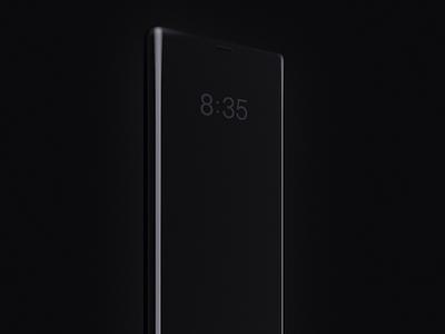 Alarm Clock Gradient design ios motion animation 3d app mobile ui