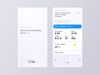 Mobile OS -- Interface for AI flight weather stack card ai wave mobile ui os ios smart 3d app mobile ui