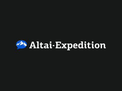 Horizontal version of the logo of the Altai Expedition