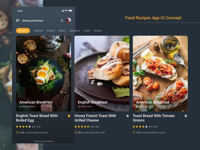 Food recipes app design by lye hoe dribbble food recipes app design forumfinder Images
