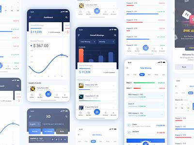 Atom App : Dashboard 01 ux ui numbers mobile app analytics dashboard lottery keno draw bet app