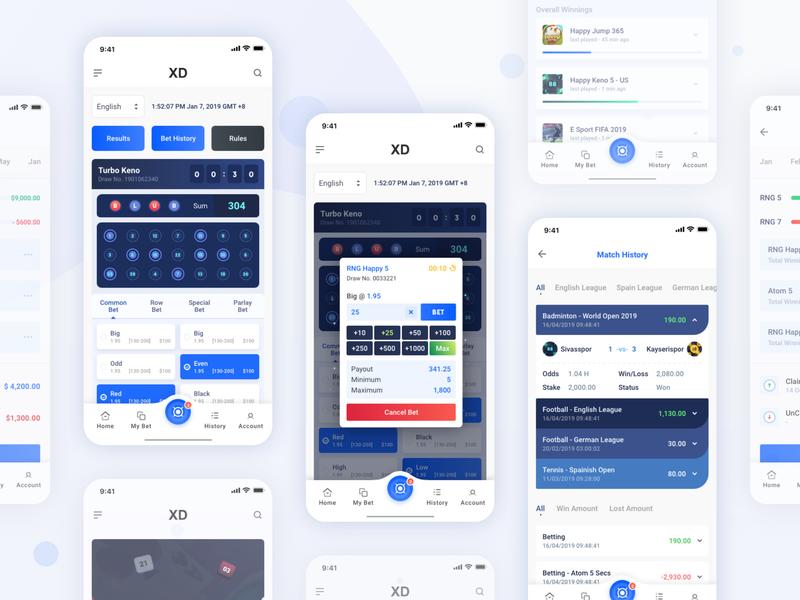 Atom App : Place Bet by Lye Hoe on Dribbble