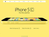 Apple Website Menu (Redesign)