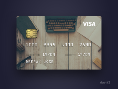 Day#2: Credit Card checkout 002 credit card dailyui