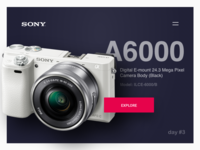 Day #3: Landing Page for Sony A6000