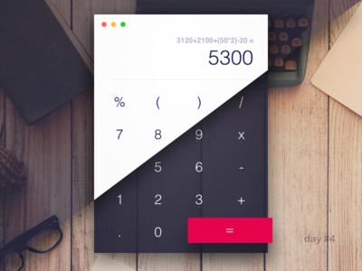 Day #4:  Calculator Light/Dark dark light calculator 004 dailyui