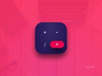Day #5:  Calculator app icon