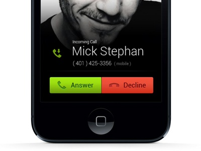 Iphone Incoming Call