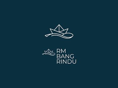 RM Bang Rindu - Logo & Mark icon mark logo restaurant branding spoon boat paper