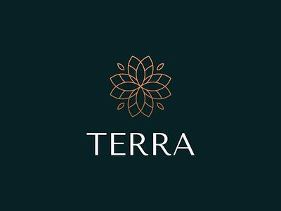 Leaf - Terra Logo Design gradient cafe logo mark leaf