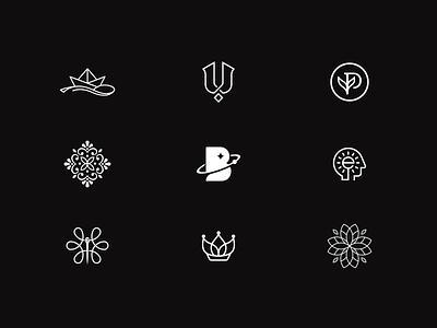Favorite of the Year idea mind string crown leaf plant letter boat planet branding mark minimal