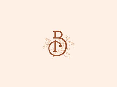 B+D+Plant Logomark brand identity elegant monogram logomark branding plant b icon