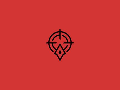 Entryfrag - Logo Design esport game fps mark arrow branding logo gaming entryfrag target