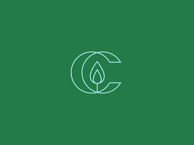 Candle + C Letter c logo logo logomark marks lettermark c letter light candle