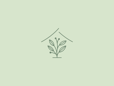 Tea + House - Logo Design leaf mark logomark organic natural house tea