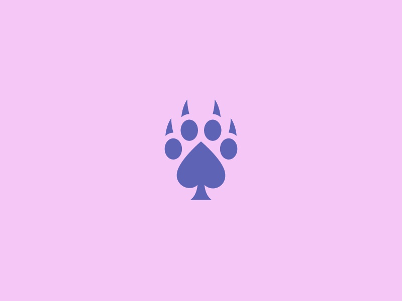 WIP - Claw + Poker Logo Design branding poker claws logo icon design minimal