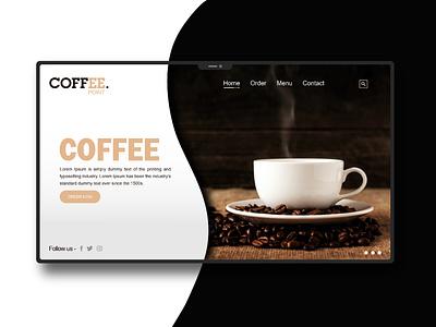 COFFEE POINT. ui adobe illustrator