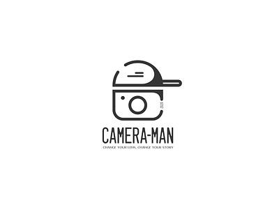Logo Design adobe photoshop adobe illustrator photography cameraman man camera minimal monogram logo mark branding logo design concept logotype logo design design logo