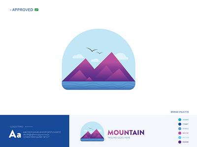MOUNTAIN app icon icon design logotype logo design branding vector design illustration logo adobe photoshop adobe illustrator