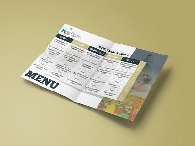 School Menu 1/3 logo menu card design catalog design flyer adobe photoshop adobe illustrator