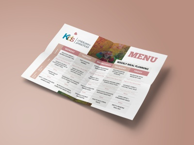 School Menu 3/3 menu design vector logo flyer design catalog design adobe photoshop adobe illustrator
