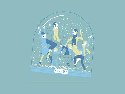 Happy NY snow xmas dancing