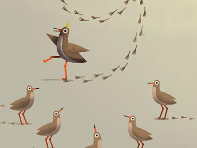 nine illustration party bird