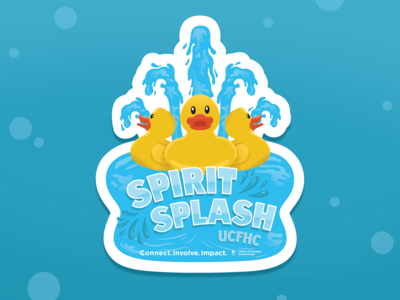 Spirit Splash Stickers