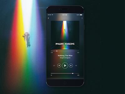 Music Player sound modern mockup ui design ui app design app audio player music player music iphone