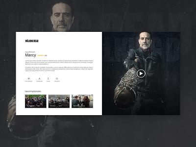 TWD Episode Player video player vector ux ui mock up illustration icon flat design branding app animation
