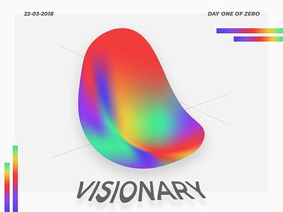 Visionary gradient vector ux ui mock up illustration icon flat design branding warp animation