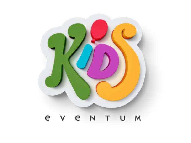Logo Kids Eventum logotype kids children logo