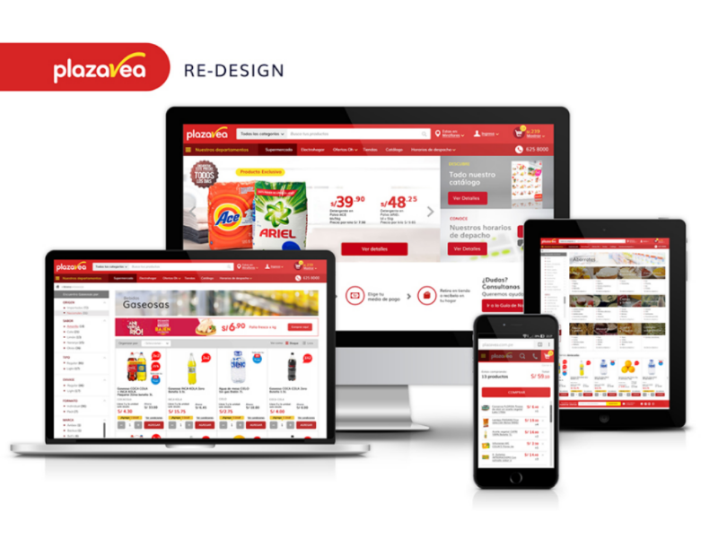 Re Design - plazaVea Peru userinterface interface ux ui denisespinoza supermarket vea plaza plazavea