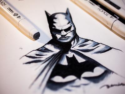 Batman marker sketch marker-pen marker batman