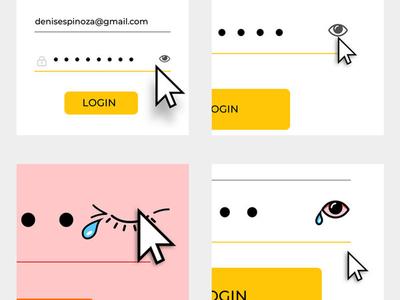Show-Hide Password joke fun design hide show password user interface ux design ui design webdesign uiux uidesign uxdesign experience user web ux ui
